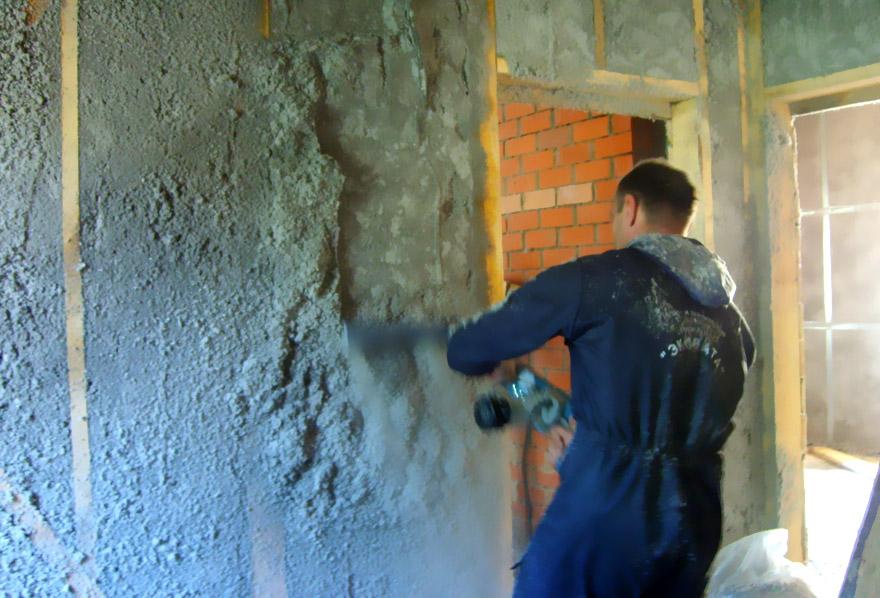 Утелпление стен дома